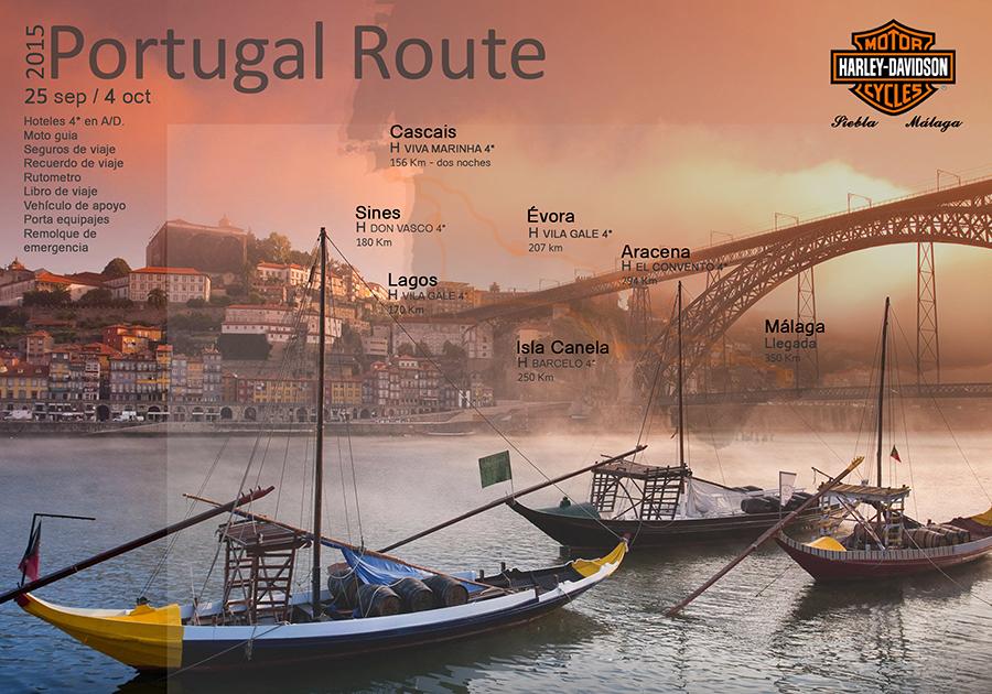 Ruta Portugal en Harley